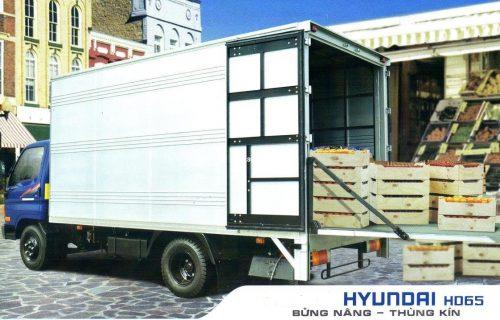 Hyundai HD72-3,5 Tấn Đồng Vàng Thùng Kín Nâng Hạ Thủy Lực