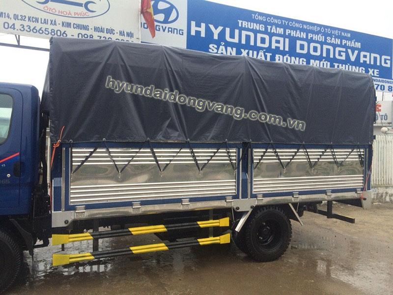 hyundai hd72 thùng bạt inox