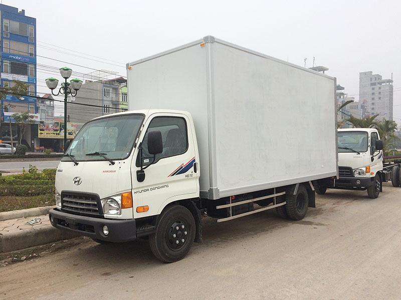 xe tải hyundai hd72 3,5 tấn thùng kín panel