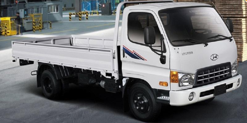 Hyundai hd600 6 tấn nâng tải thùng lửng